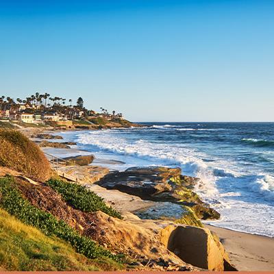 Coastal view of San Diego