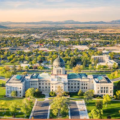 Aerial view of Helena, Montana
