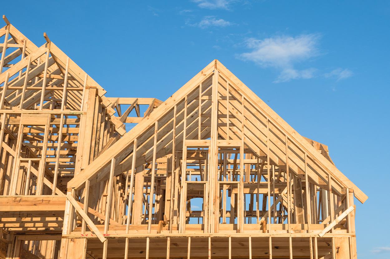 Framework of a new build house